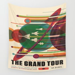The Grand Tour : Vintage Space Poster Wall Tapestry