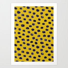BLUEBERRY DOTS Art Print
