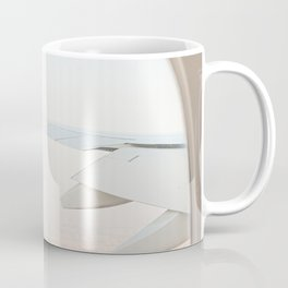 Pastel Plane Window View Photo | Summer Holiday Dubai Air Art Print | Adventure Travel Photography Coffee Mug