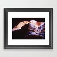 slot canyon Framed Art Print