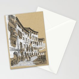 Piazza dell Anfiteatro, Lucca, Italy Stationery Cards