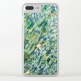 Ocean Life Abstract Clear iPhone Case