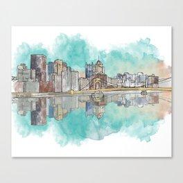 Pittsburgh Sunset Canvas Print