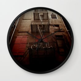 manhattan alley Wall Clock