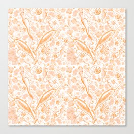 Mermaid Toile - Orange Canvas Print