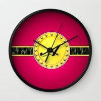 monogram Wall Clocks featuring Monogram by Precious Art Print