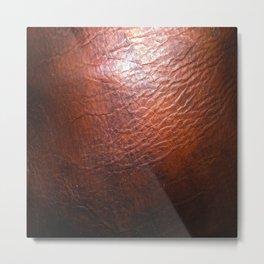 Rich Leather Metal Print
