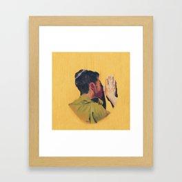 Untitled (soldier, gold) Framed Art Print