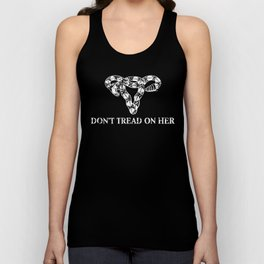 Don't Tread on Her B&W Unisex Tank Top