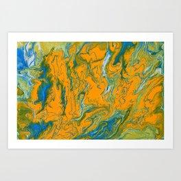 Topographie concepteur 1 landscape Art Print