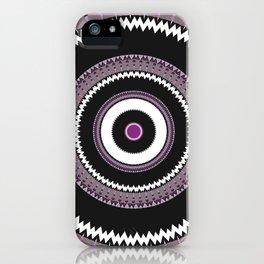 Decorative Pantone Purple Grey Mandala iPhone Case