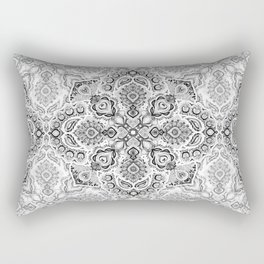 Pattern in Black & White Rectangular Pillow