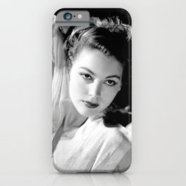 Ava Gardner, Hollywood Starlet black and white photograph / black and white photography iPhone Case