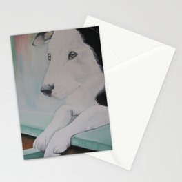 Rainbow dog Stationery Cards