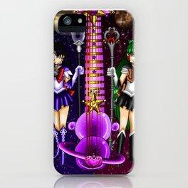 Fusion Sailor Moon Guitar #39 - Sailor Saturn & Sailor Pluto iPhone Case