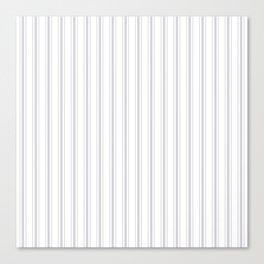 Soft Grey Mattress Ticking Wide Striped Pattern - Fall Fashion 2018 Canvas Print