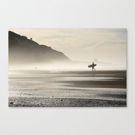 Surfer at Sunrise Canvas Print