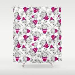 Flowerpot (random repeat) Shower Curtain