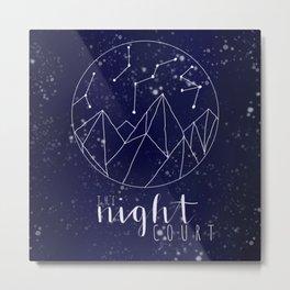 The Night Court Digital Art Metal Print