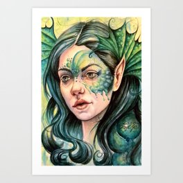 Water Nymph Art Print