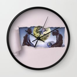 Untimely Ripped Voyeur Views: The World is in Our Hands Wall Clock