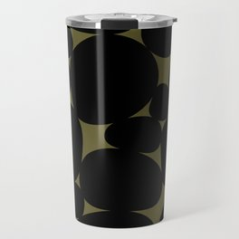 Stone Abstract - Earth Green Travel Mug