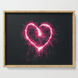 Firework Heart (Color) Serving Tray