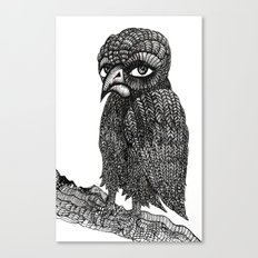 Morbid bird Canvas Print