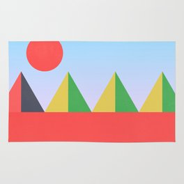 Pyramids in the Sun Rug