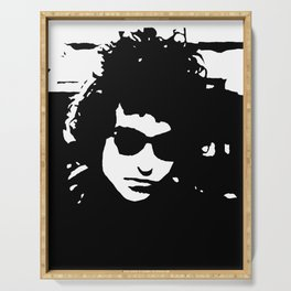 """Bob Dylan painting, hand painted acrylic piece of art on canvas, 30x40cm / 12""""x16"""". Pop Art. Serving Tray"""