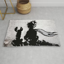 The little prince and the fox - stencil for the LIFE CURRENT WALL series Rug