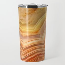 Orange Ripple Mineral Surface Travel Mug