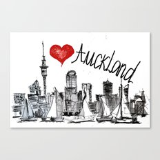 I love Auckland  Canvas Print