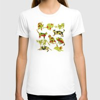 kitchen T-shirts featuring Kitchen Cats by Marlene Pixley