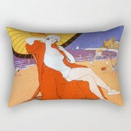 Ostend Queen of beaches jazz age Rectangular Pillow