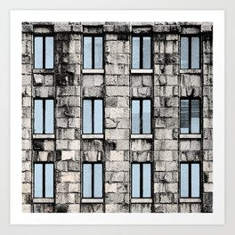 Main Post Office Building in Belgrade Art Print