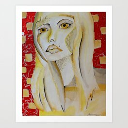 Fashionista in Primaries Art Print
