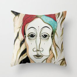 Angel Aiya Channeled Painting Sacred Art High Frequencies Throw Pillow