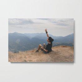 Freedom Traveler - Mountain Metal Print