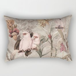 Vintage & Shabby Chic - Tropical Bird Jungle Rectangular Pillow