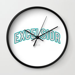 Excelsior, one of the Stan Lee's famous word Wall Clock