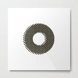 Halftone Circle Offset Metal Print