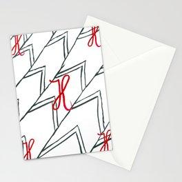 Bokstaven H - x 5 -    Stationery Cards