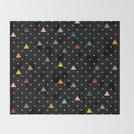 Pin Point Triangles Black Throw Blanket