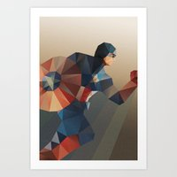 captain Art Prints featuring Captain by Ed Burczyk