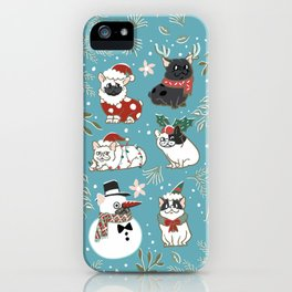 Christmas French Bulldog iPhone Case