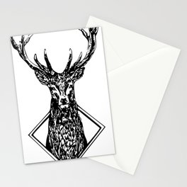 Diamond Stag Stationery Cards