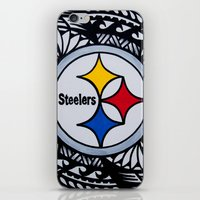 steelers iPhone & iPod Skins featuring Steelers Poly Style by Lonica Photography & Poly Designs