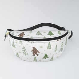 trees + yeti pattern in color Fanny Pack