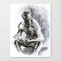 clint eastwood Canvas Prints featuring Clint Eastwood by onez